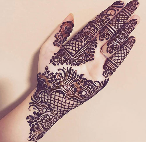 mehndi designs latest for left hand