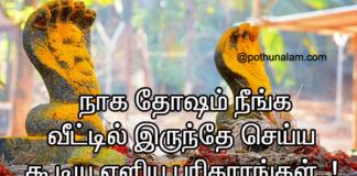 Naga Dosham Pariharam in Tamil