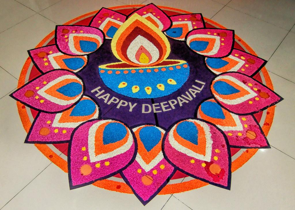 happy diwali rangoli image