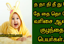 Modern boy baby names in tamil