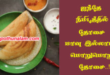 instant dosa in tamil
