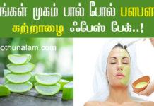 Aloe Vera Skin Whitening Tips in Tamil