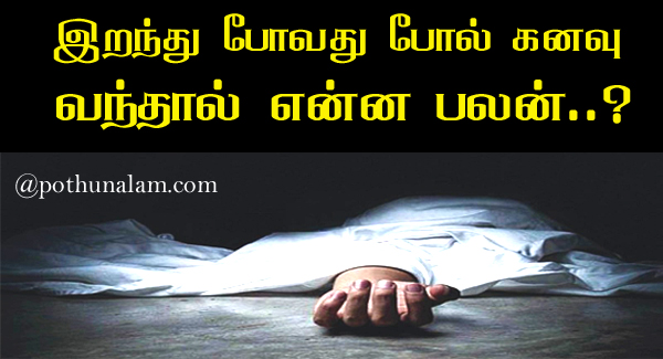 Death Dream Meaning in Tamil