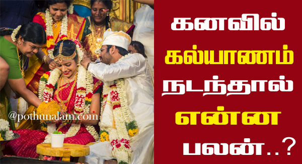 Marriage Kanavu Palangal in Tamil