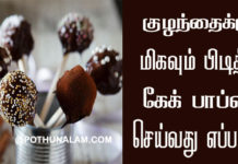 cake pops recipe in tamil