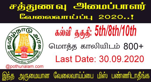 Pudukkottai District Recruitment 2020