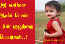 Baby Name Start With E in Tamil