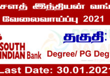 South Indian Bank Recruitment 2021