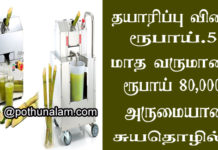 Sugarcane Juice Business in Tamil