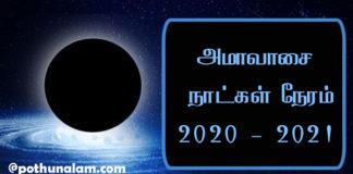 Amavasya Date