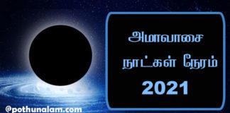 Amavasya Date 2021