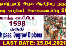 TN TRB Recruitment 2021