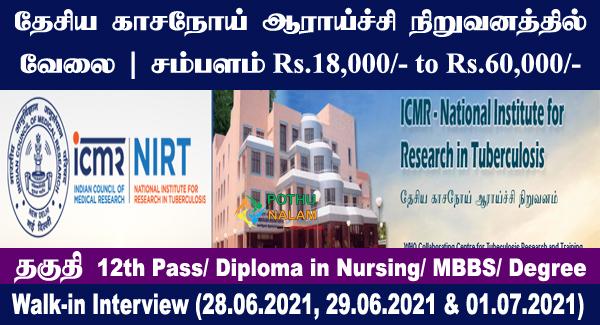NIRT Recruitment 2021
