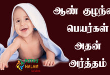 Baby Boy Names With Meaning in Tamil