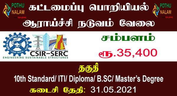 CSIR Chennai Recruitment