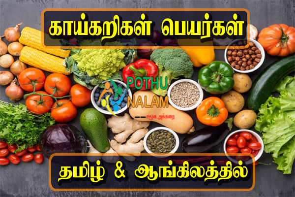Vegetables Names in Tamil And English