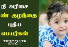Girl Baby Names Starting With ni in Tamil