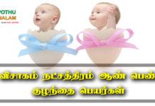 Visakam Natchathiram Names