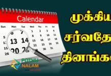 World Important Days List