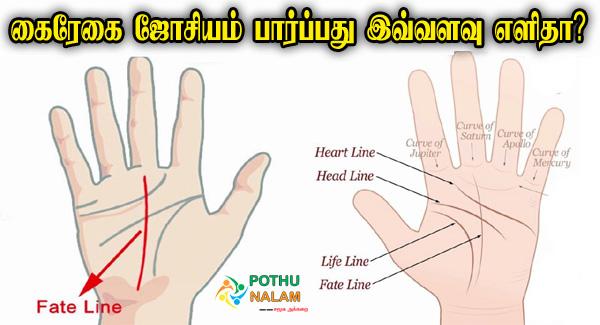 Kairegai Jothidam Palangal in Tamil