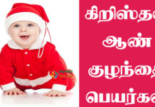 Christian Baby Boy Names in Tamil