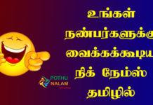 Nicknames in Tamil
