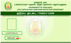 PHH – AAY Ration Card Meaning Tamil