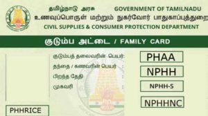 PHH Ration Card Meaning Tamil