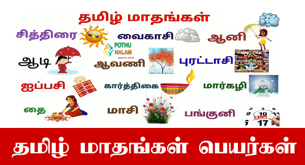 Tamil Month Names List in Tamil
