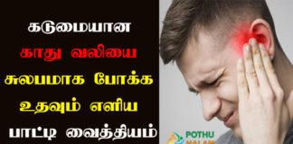Ear Pain Treatment in Tamil