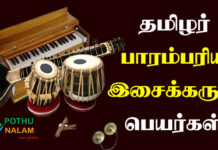 Musical Instruments Names in Tamil