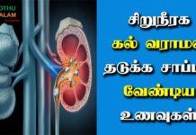 Kidney Stone Avoid Food List Tamil