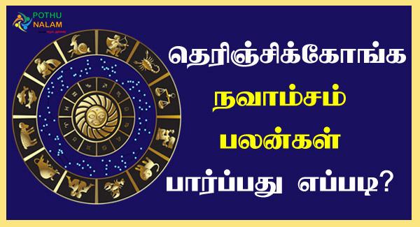 Navamsa Lagna Palangal in Tamil