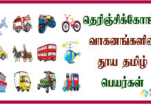 Vehicles Name in Tamil